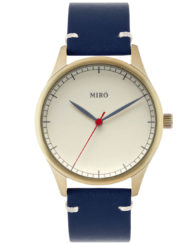 gold creme blue miro watches