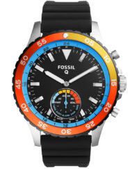 fossil q crewmaster silicon